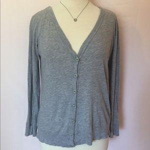 Grey Long Sleeve Button up Shirt